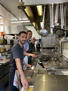 les cuisines du restaurant La Lucciola