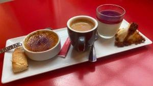 Crème brûlée, Pannacotta, Financier, Congolais